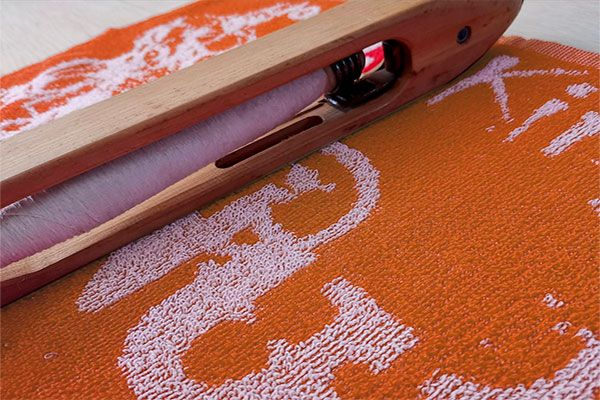 Toalla bicolor Naranja-Blanco